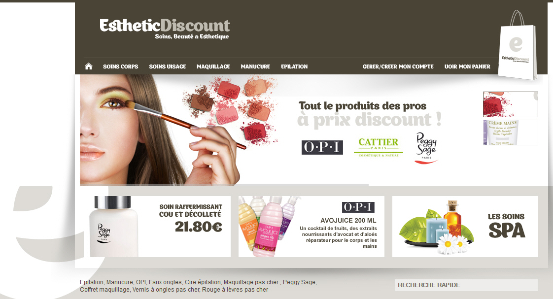 creation de boutique ecommerce - site internet