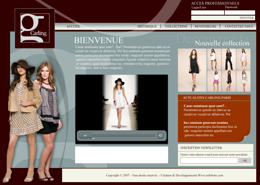 site internet - site boutique